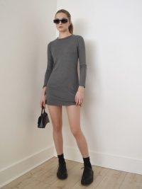 Reformation Jeanne Dress Heather Grey | sweater dresses