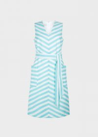 HOBBS JULIET DRESS AQUA WHITE ~ striped summer dresses