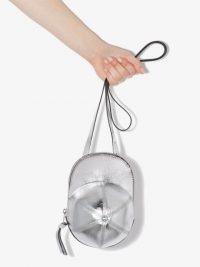 JW ANDERSON Cap metallic-leather shoulder bag