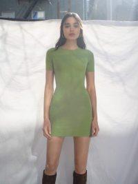 REFORMATION Kendy Dress Avocado ~ essential green mini