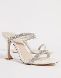 KG by Kurt Geiger London Foster rhinestone mules with louis heel ~ sparkly heels