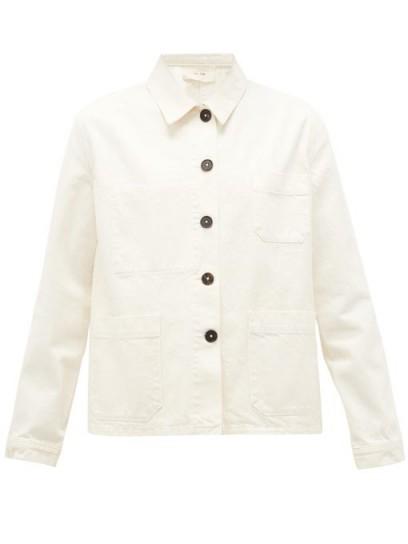 THE ROW Kurt patch-pocket cream-denim jacket