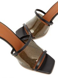 MALONE SOULIERS Laney 85 PVC and leather mules