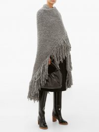 GABRIELA HEARST Lauren tasselled cashmere wrap grey
