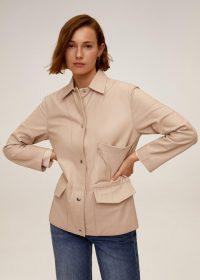 MANGO Alegria Leather jacket pink | luxe jackets