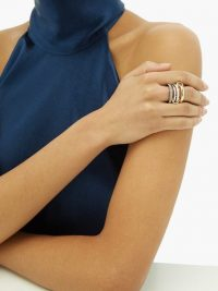 SPINELLI KILCOLLIN Leilani diamond and 18kt gold ring ~ luxe stacking rings