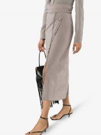 Lemaire Grey High Waist Wrap Skirt