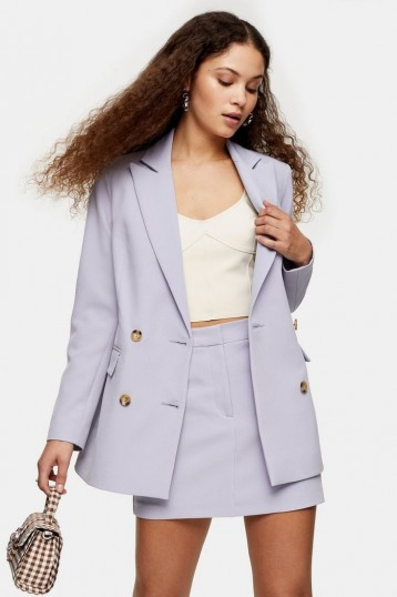 TOPSHOP Lilac Double Breasted Blazer With Buttons ~ suit jackets