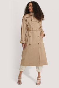 MANGO Lism Trench Coat Beige
