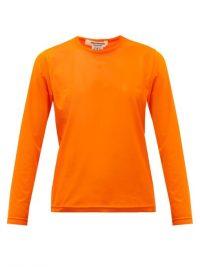 JUNYA WATANABE Long-sleeve technical-mesh T-shirt in orange