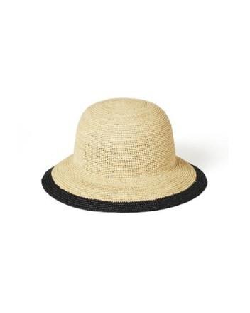 JIGSAW MELIE RAFFIA BUCKET HAT NATURAL ~ neutral summer hats - flipped