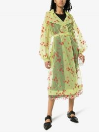 Moncler Genius 4 Moncler Simone Rocha Coronilla Floral Organza Trench Coat | transparent coats