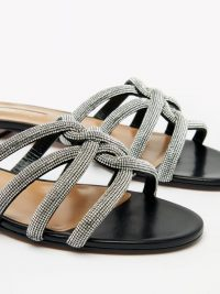 AQUAZZURA Moondust crystal-embellished suede sandals