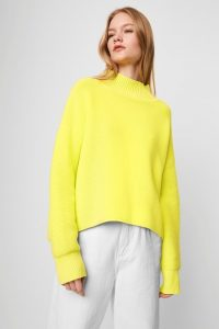 French Connection MOZART OTTOMAN NEON HIGH NECK JUMPER – brightly coloured knits