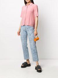 MSGM drawing-print straight-leg jeans