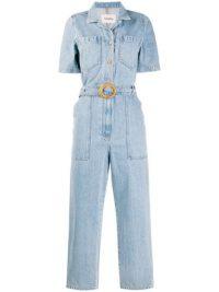 NANUSHKA short-sleeved denim jumpsuit ~ crop leg jumpsuits