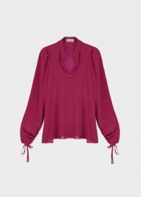 HOBBS NATASHA BLOUSE PINK / balloon sleeve blouses