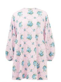 EMILIA WICKSTEAD Neilson rose-print cotton-blend dress in pink ~ feminine clothing