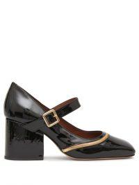 OSMAN Nina black patent-leather Mary Jane pumps ~ chunky heel Mary Janes