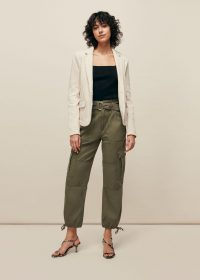 WHISTLES SLIM JERSEY JACKET OATMEAL / neutral spring jackers