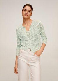 MANGO CARACOLA Openwork knit cardigan | delicate knits
