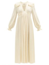 WILLIAM VINTAGE Ossie Clark 1960s ruffled satin dress | evening wear