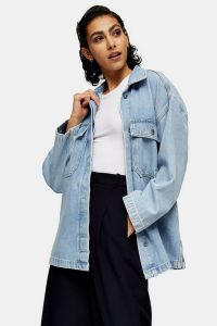 Oversized Denim Jacket By Topshop Boutique