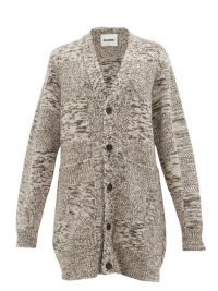 JIL SANDER Grey oversized recycled cashmere cardigan ~ cosy cardi