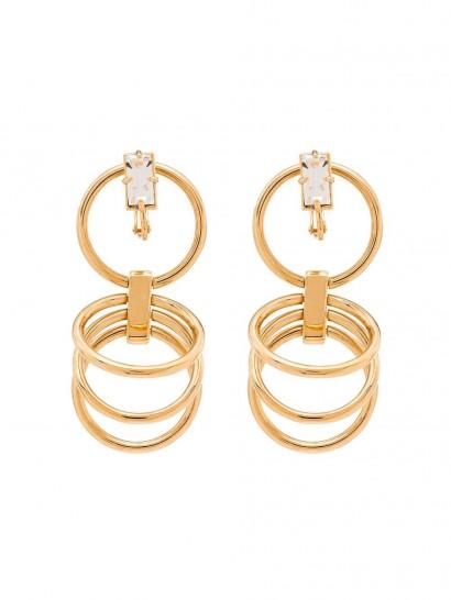 PANCONESI gold-plated sterling silver crystal hoop earrings | drop hoops