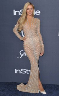 Paris Hilton glamour at the Golden Globes after-party 2020