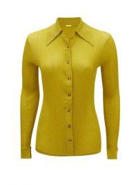 DODO BAR OR Paya rib-knitted shirt in olive green