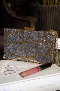 Sia & Stars Pewter Amara Clutch – glitzy evening bags