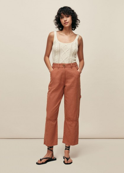 WHISTLES AMENIA CARGO TROUSER PINK