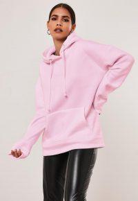 MISSGUIDED pink basic hoodie – jersey hoodies