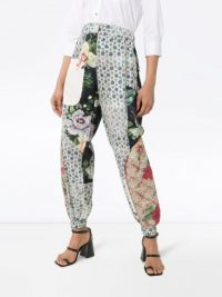 PREEN BY THORNTON BREGAZZI Eimi patchwork trousers ~ cuffed, mixed print pants