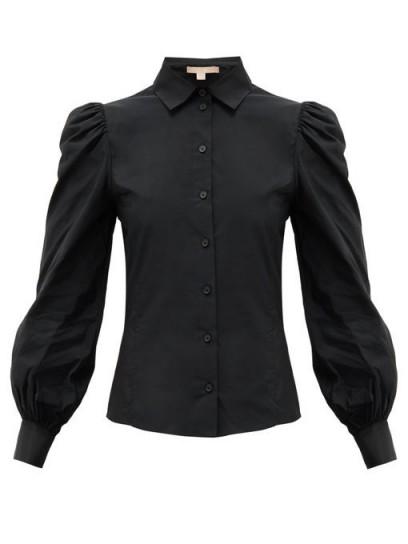 BROCK COLLECTION Puffed-sleeve taffeta blouse