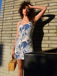 Reformation Puglia Dress Avian – beautiful prints – classic summer mini