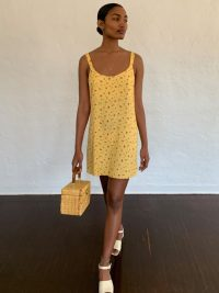 Reformation Puglia Dress Gwen | yellow dresses
