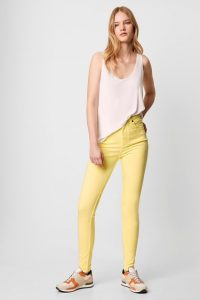 French Connection REBOUND ORGANIC COTTON SKINNY JEANS 30 INCH Lemon Grass