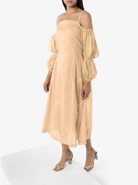 REJINA PYO lorna toile midi dress ~ feminine look clothing