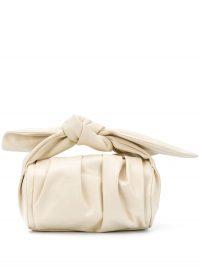 REJINA PYO Nane white leather tote ~ small ruched bags
