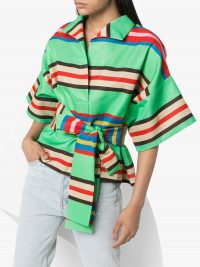RIANNA + NINA Claudia striped belted blouse ~ vintage colours