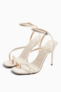 TOPSHOP RISE Ecru Strappy Heels – neutral going out sandals