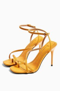 TOPSHOP RISE Orange Strappy Heels