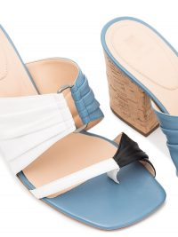 ROSIE ASSOULIN Funky 70mm double-strap mules ~ chunky heeled summer mule