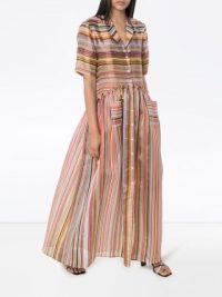ROSIE ASSOULIN striped maxi shirt dress | summer luxe fashion