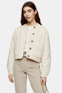 TOPSHOP Sand Lightweight Quilted Jacket