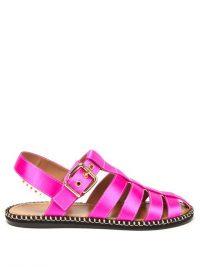 MARNI Pink satin fisherman sandals