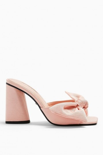 TOPSHOP SAUCY Pink Bow Mules / girly summer sandal