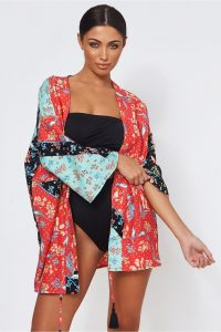 The Fashion Bible SISI PATCHWORK KIMONO | mixed print kimonos